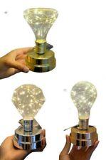 Bombilla lámpara luz decorativo 15 led de mesa, plata oro y cobre
