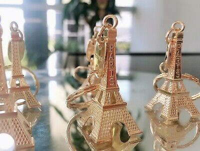 12 Pieces Eiffel Tower Keyring Retro Adornment French Souvenirs Keychain Gold Top Watermeloenen