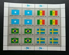United Nation Flag Somalia Senegal Brazil Sweden 1982 (sheetlet) MNH