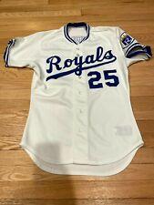 Gary Thurman Game Used Game Worn Jersey Kansas City Royals 1988