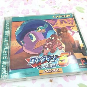 USED-PS1-PS-PlayStation-1-Rockman-5-blues-of-the-trap-54806-JAPAN-IMPORT
