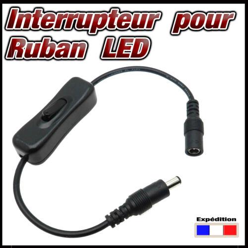 STRIP LED 856# câble avec interrupteur pour ruban LED