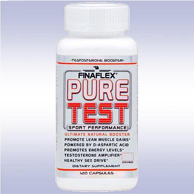 FINAFLEX PURE TEST (120 CAPSULES) natural testosterone & sex drive booster boost