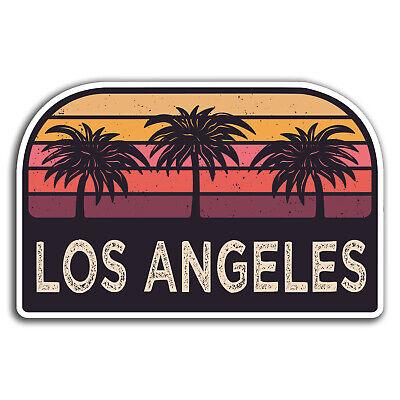 2 x Los Angeles California USA Vinyl Sticker Laptop Travel Luggage Car #6319