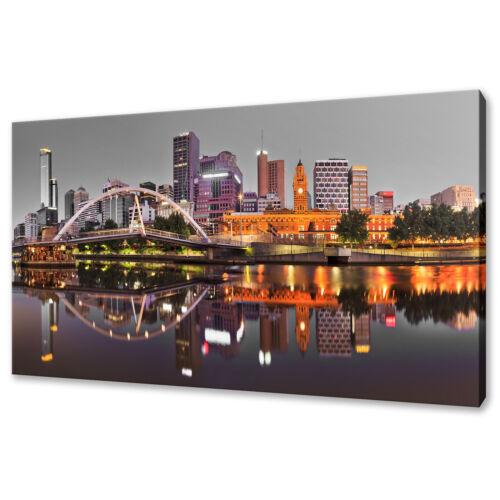 BEAUTIFUL MELBOURNE SUNRISE AUSTRALIA MODERN CANVAS PRINT WALL ART PICTURE