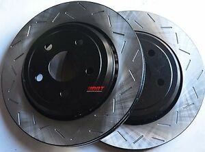 Fits-Lancer-GT-GTS-Slotted-Brake-Rotors-Premium-Grade-Front-Pair-302MMx10MM
