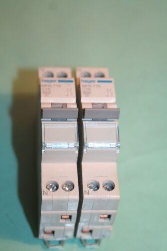 Lot de 2 Disjoncteurs C16  Hager MFN716