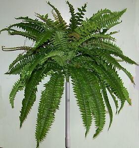 Silk Foliage Plant Boston Fern  Bush 50cm Artificial