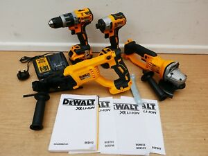 DEWALT XR 18V DCH133 SDS DCG412 GRINDER DCF887 IMPACT DCD796 COMBI DRILL 5 AH