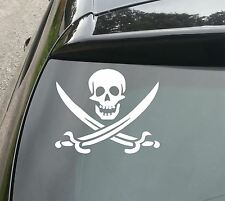 Pirate Skull and Swords Funny Car//Van/Window VW DUB EURO Vinyl Decal Sticker