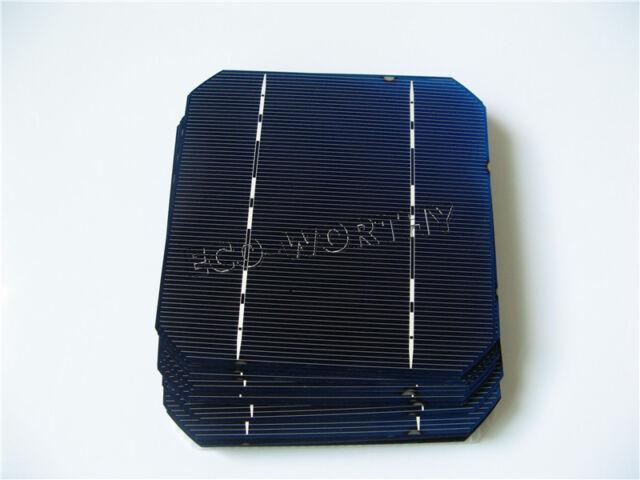 5x5 Mono Solar Cells Kit 125x125MM High Power for DIY Solar Panel 2.6W/pc Gift