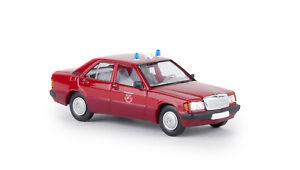 Brekina-13214-MB-190-E-034-Fire-Brigade-Parchimer-Umland-034-Starmada-Car-Model-1-87