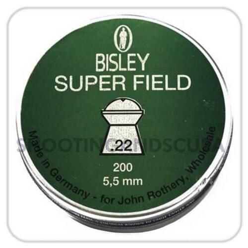 ~ TIN di 200 Pastiglie Per Air FUCILE PISTOLA Bisley SUPER campo.22 5.5 mm