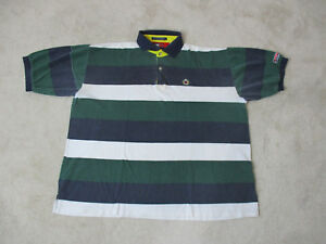 VINTAGE-Tommy-Hilfiger-Polo-Shirt-Adult-Extra-Large-Green-White-Sailing-Gear-90s