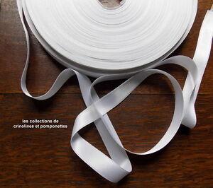 Consciencieux Ruban De Satin Blanc 1.5cm De Large Vendu Par Multiples De 2 M* Toujours Acheter Bien