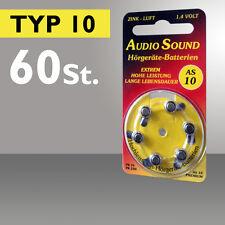 60 Audio Batteries pour Appareil Auditif Type 10 PR70 ZL4