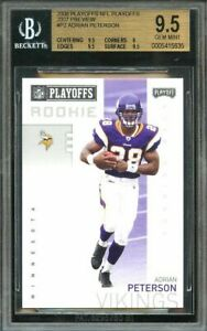 Details About 2006 Playoff Nfl Playoffs 2007 Preview P2 Adrian Peterson Rookie Card Bgs 95