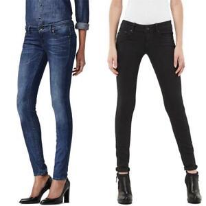 G-Star Midge Zip Low Waist Super Skinny Damen Jeans Hose Jeanshose Röhrenjeans