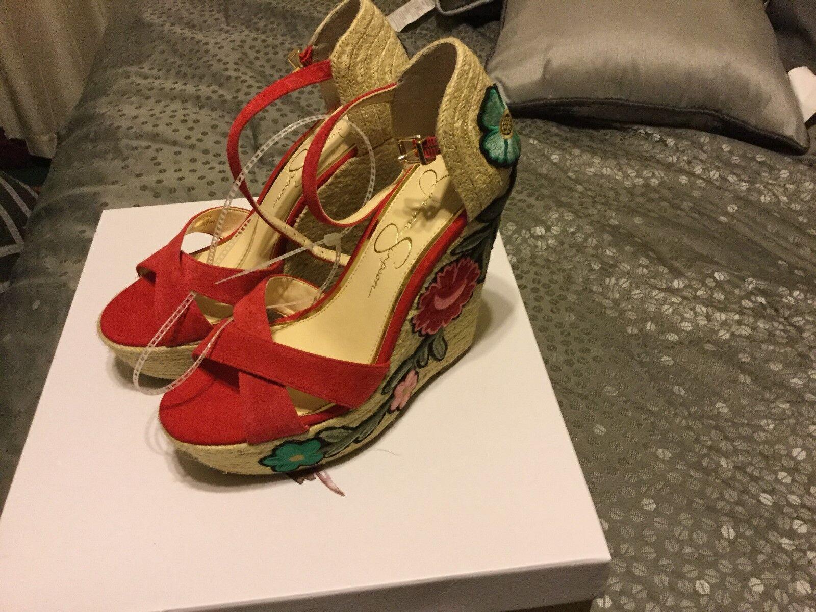 Nuevo (tamaño con etiquetas Sandalias de Jessica Simpson Appella Gamuza (tamaño Nuevo 6 1 2) 321404