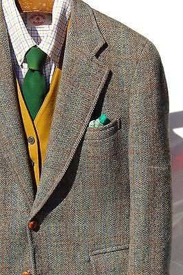 Paul Stuart 38S Green Windowpane Check Wool Tweed Blazer/Sport Coat - $2,495.00!