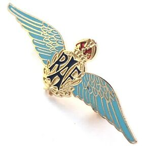 Mod-Approuve-Raf-Royal-Air-Force-Sweetheart-Ailes-Bleu-Emaille-Broche-Badge