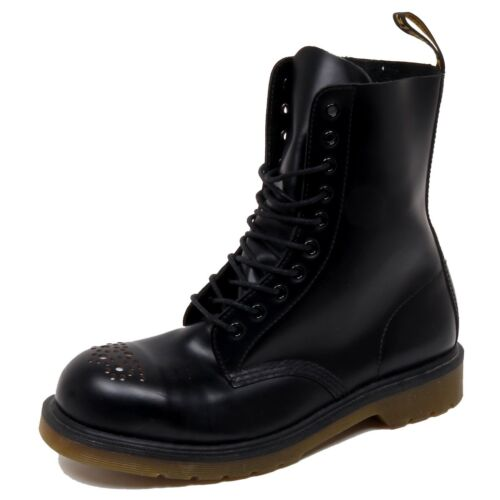 Martens Graffiata Uomo Black Anfibio no F1990 Box Boot Dr Man Scratched wCqxOq0Y