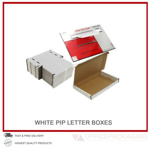 White-Large-Letter-Pip-Cardboard-Postal-Boxes-C5-amp-C6-High-Quality-Royal-Mail