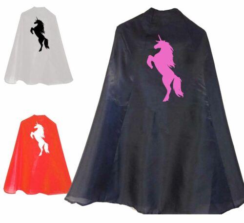 Unicorn Horse Super Hero Cape Printed Stag Halloween Unisex Costume