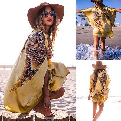 Women Summer Swimsuit Kaftan Sexy Crochet Bikini Swimwear Cover Up Beach Dress