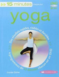 15 minutes yoga livredvd livre dvd/cdgrime