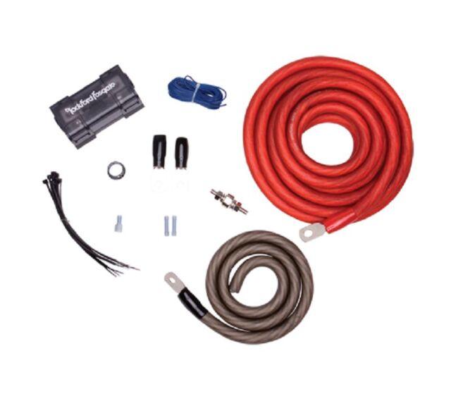 rockford fosgate 1 0 amplifier installation kit rfk1 ebay rh ebay com rockford fosgate dual amp wiring kit rockford fosgate amplifier wiring kit