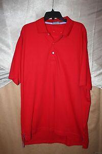 Alan-Flusser-Mens-Polo-Golf-Shirt-Size-XL-100-Cotton-Short-Sleeve-Red-NWoT