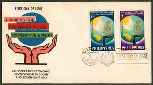 Philippine-1961-Honoring-The-COLOMBO-PLAN-Cooperative-Effort-FDC