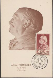 1946 France Carte Maximum N°748 Alfred Fournier Obl Expo Penicilline Maxi Card