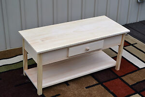 Image Is Loading Unfinished Pine Coffee Table Shaker Square Edge W