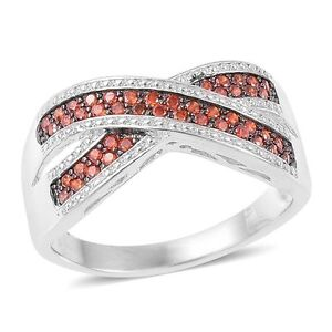 ORANGE-SIMULATED-DIAMOND-CRISS-CROSS-BAND-RING-SIZE-6-STACKABLE-OR-BAND-RING-925