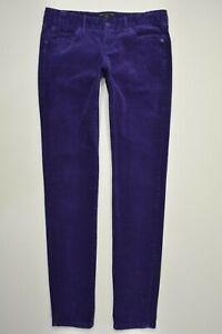 Banana-Republic-Size-4-Womens-RYAN-FIT-Purple-CORDUROY-Stretch-SKINNY-Leg-Pants
