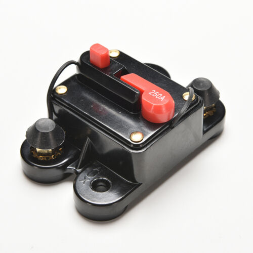 60A 250A AMP Car Auto Marine Boat Stereo Audio Inline Circuit Breaker Fuse JKH