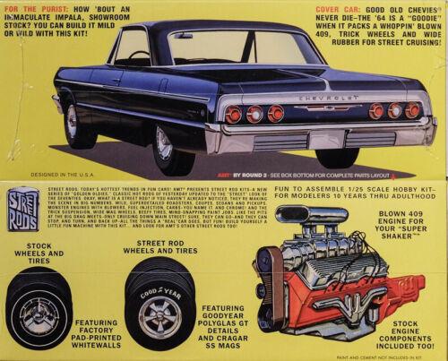 1964 Chevy Impala 409 Super Shaker 1:25 AMT Model Kit Bausatz AMT917 Chevrolet