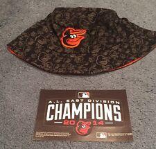 Baltimore Orioles O's SGA Camo Bird Floppy Hat + AL East 2014 Champs Fathead