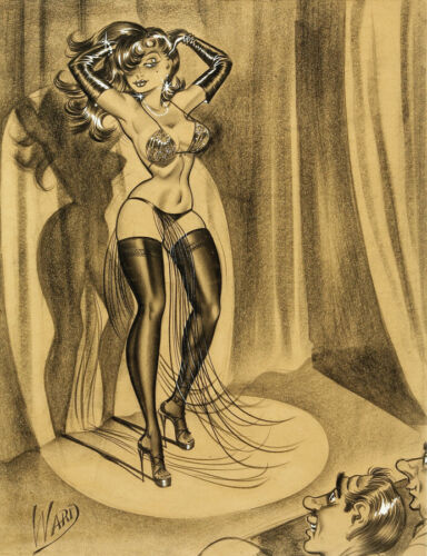 Bill Ward Vintage Illustration Art 14 x 11 Photo Print