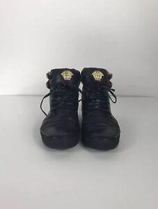 Versace Gianni lederen zwarte Medusa Vgt Zeldzame gordel bondage schoenen XiZuOPk