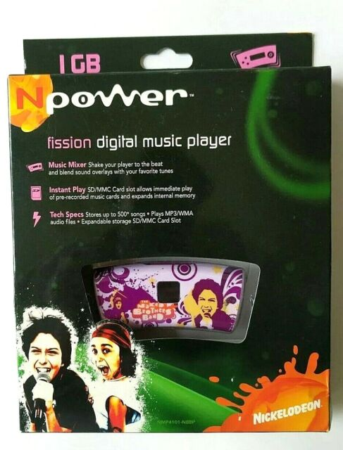 New Npower Fission Digital Music Player The Naked Brothers Band -  Nickelodeon