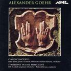 Alexander Goehr - Piano Concerto Symphony in One Movement Audio CD