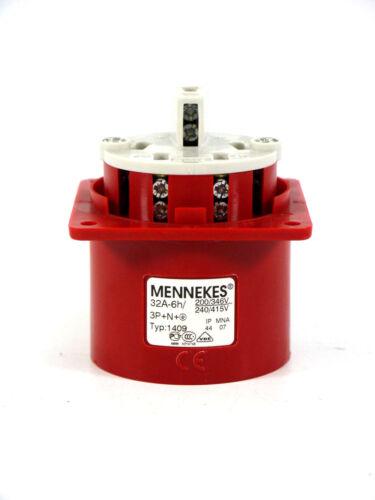 Mennekes CEE 32A-6h5 Pincultivation Connector 1409200//346V240//415V
