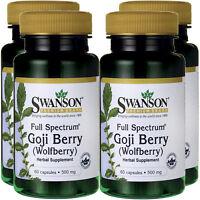 4x Goji Beere Extrakt 240 Kapseln Mit 500mg Goji Berry Wolfsbeere Wolfberry