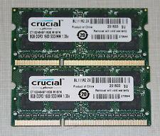 crucial 16GB (2X8GB) PC3L-12800 DDR3L 1600MHz SODIMM LAPTOP MEMORY