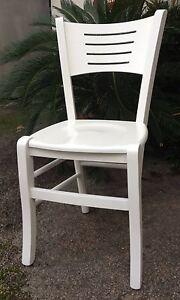 Sedia bianca in legno massello colore bianco cucina ebay for Sedia bianca cucina