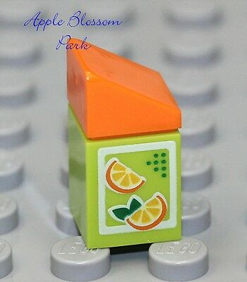 Vluchten Zoeken New Lego City Minifig Orange Juice Carton - Friends Minifigure Kitchen Food Jug