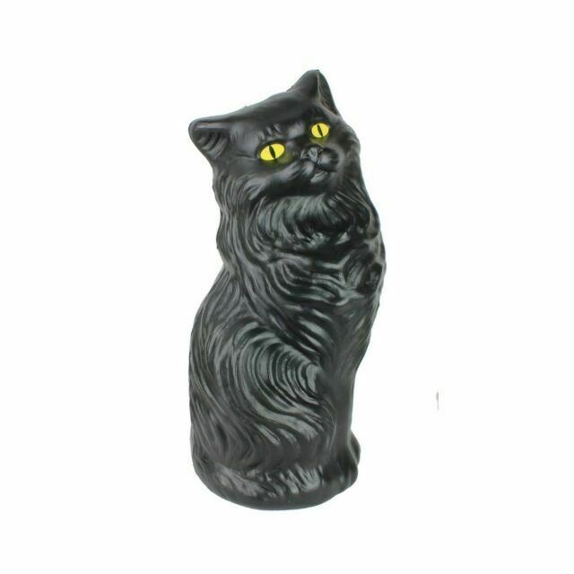Retro Design Bank.Black Cat Money Bank 17 Inch Plastic Blow Mold Decoration